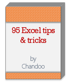 Free Excel tips book - joining bonus - Chandoo.org newslett