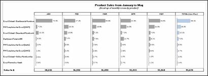 Sales Data Visualization Chart by Laksiri