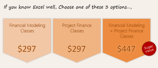 Financial Modeling & Project Finance Classes - Signup Options