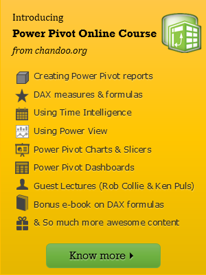 Introducing Power Pivot online classes from Chandoo.org