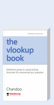 Excel Vlookup Book by Chandoo, ebook version