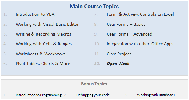 Online VBA Classes by Chandoo org - Details & Dates