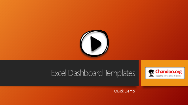 Excel Dashboard Templates - Quick demo video - Click to play