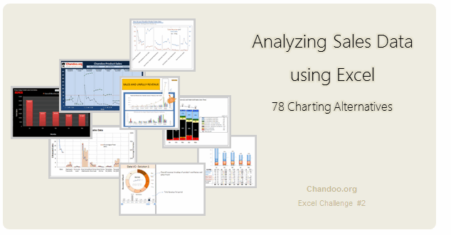 Sales Analysis Charts in Excel – 78 Alternatives