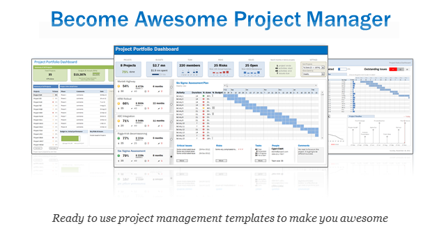 Excel project portfolio management templates download for Managing multiple projects template