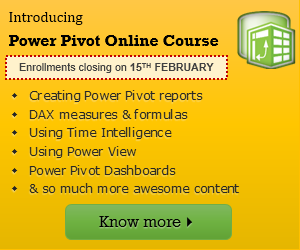 Online Power Pivot & Excel Dashboard classes from Chandoo.org