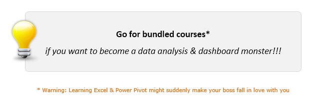 Tip - Bundle courses to save money & become data analysis + dashboard pro